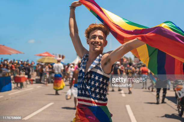 lgbtqi pride event in recife, pernambuco, brazil - bisexuality stock pictures, royalty-free photos & images