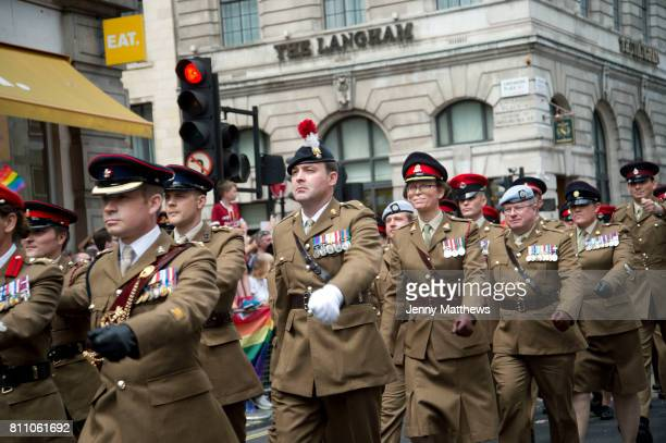 Pride in London formally known as Pride London is an annual LGBT pride festival and parade held each summer in London United Kingdom A group of Army...