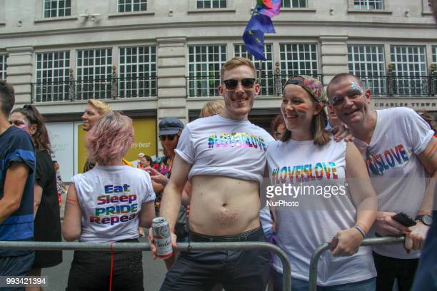 Pride in London Participants United Kingdom on July 7 2018