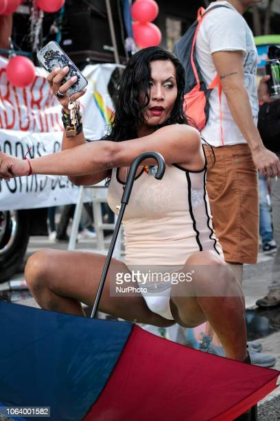 Pride March in Buenos Aires Argentina on 17 November 2018 where year after year thousands of people take to the streets to show themselves as they...