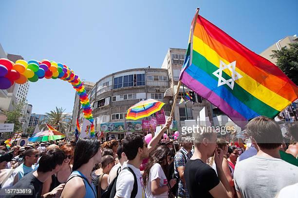 parada orgulho em tel aviv, israel - desfiles e procissões - fotografias e filmes do acervo