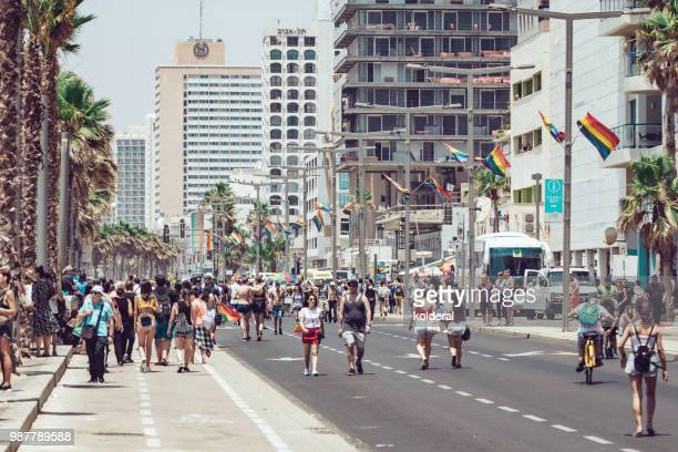 pride parade in tel aviv - parade stock pictures, royalty-free photos & images