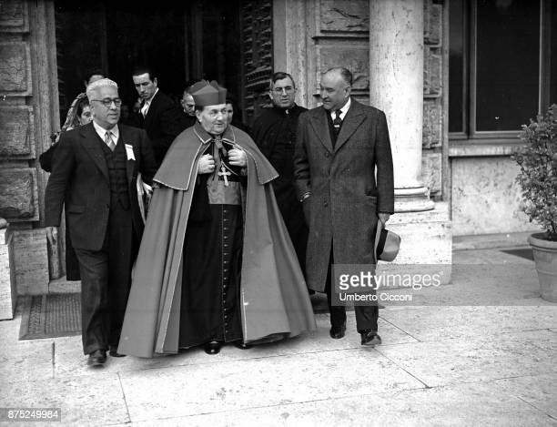 Priest at the Vatican for a Mexican pilgrimage 1949