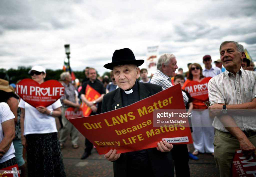 GBR: Rally For Life Activists Protest In Belfast