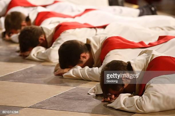 Priest ordinations at NotreDame de Paris cathedral Paris France