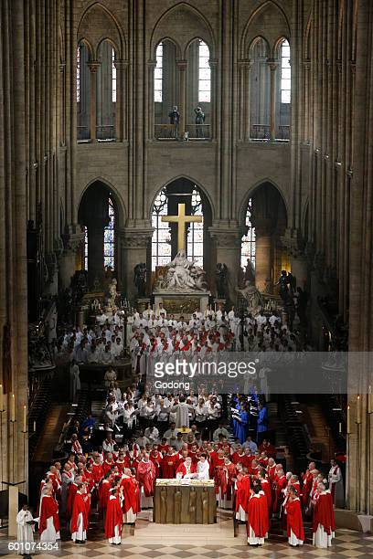 Priest ordinations at NotreDame de Paris cathedral Paris France
