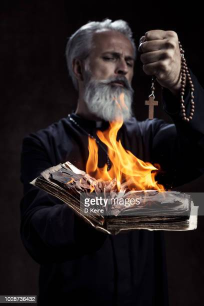 priest - church of satan stock pictures, royalty-free photos & images