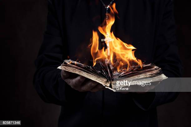 priest - burning stock photos and pictures