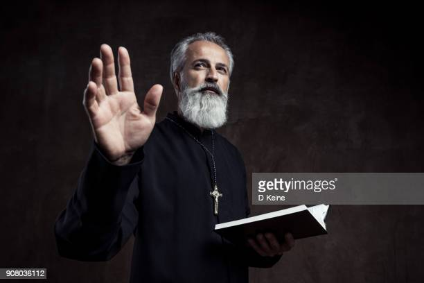 priest - religious blessing stock pictures, royalty-free photos & images