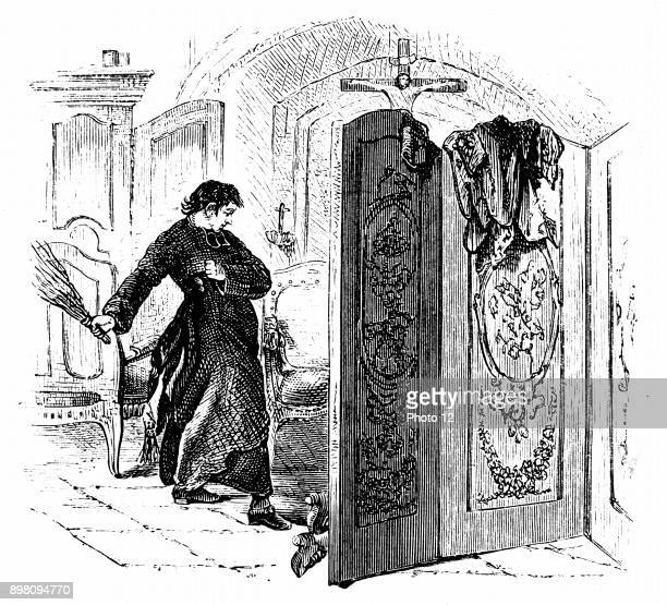 Priest whipping a penitent with a birch c1876 From the Rev Sm M Cooper A History of the Rod Photo12/Universal Images Group via Getty Images