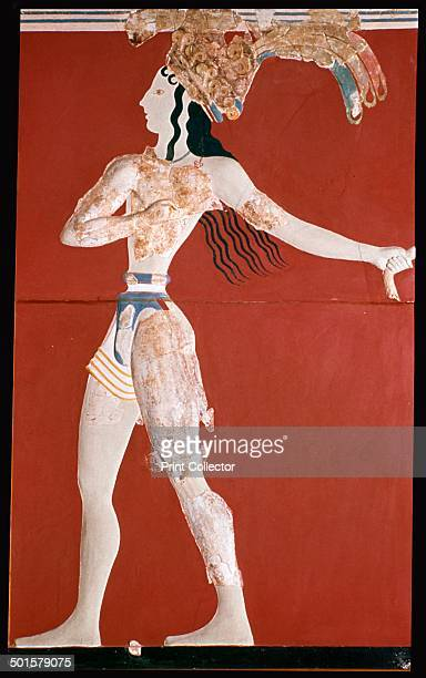 PriestKing' fresco from the Minoan palace at Knossos from the Archaeological Museum of Heraclion Crete