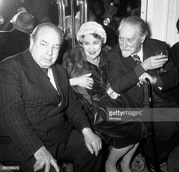 Priestley author and broadcaster seen here enjoying a drink with Compton MacKenzie who was celebrating his 80th birthday. Fay Compton is seen here...