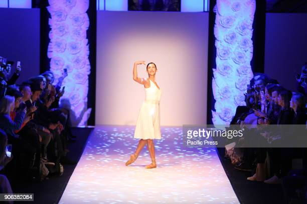 Prima ballerina Elisa Carrillo on the catwalk for the collection of the designer Maisonnee during the MercedesBenz Fashion Week