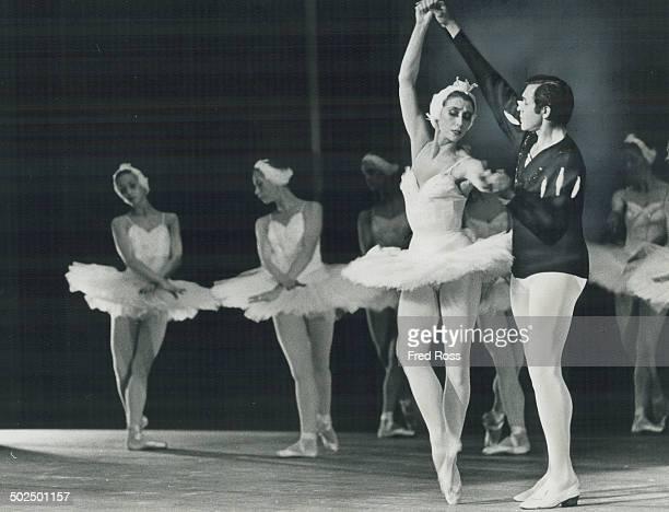 Prima ballerina of Russia's Bolshoi Ballet 46yearold Maya Plisetskaya dance dlead roles in Swan Lake and Carmen at O'Keefe Centre last night and...
