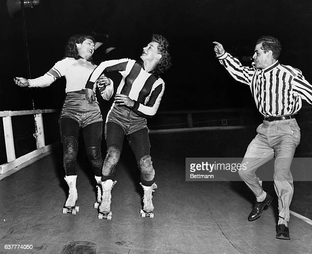 """Prima Donna of the roller skating is Midge Brasuhn better known as """"Toughie"""" and with good reason Not only is she a ripsnorting bundle of energy when..."""