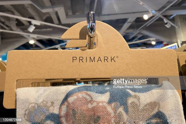 Primark label in Gran Via store after apply a 15% salary increase to store employees in Spain on February 07 2020 in Madrid Spain