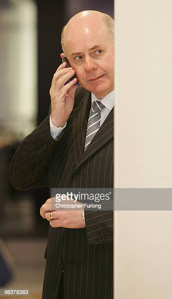 Primark Sales Director Ben Mansfield talks on the phone as he waits for the doors to open at the new Primark clothing flagship store on December 8th...
