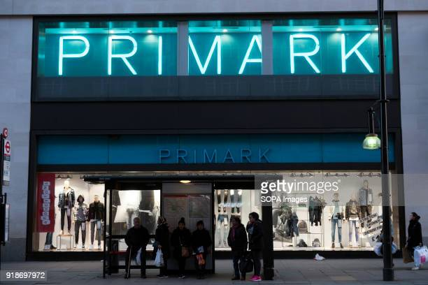 Primark store seen in London famous Oxford street Central London is one of the most attractive tourist attraction for individuals whose willing to...
