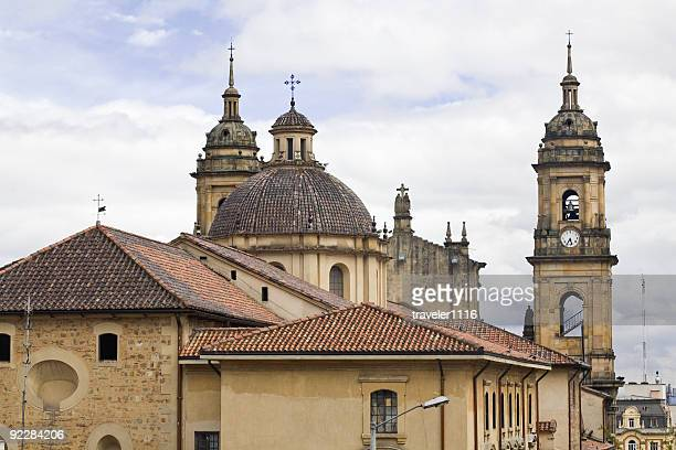 primary cathedral of bogota - bogota stock pictures, royalty-free photos & images