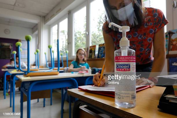 Primary school after lockdown in Montrouge. France.