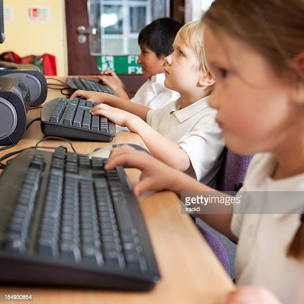 primary school: children using computers