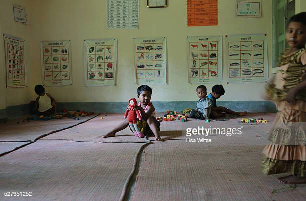 A primary school for children of prostitutes from the Daulatdia brothel run by Save the Children in Faridpur Bangaldesh Daulatdia brothel is the...