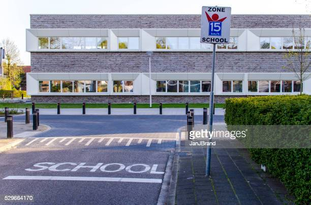 primary school in amersfoort - amersfoort netherlands stock photos and pictures