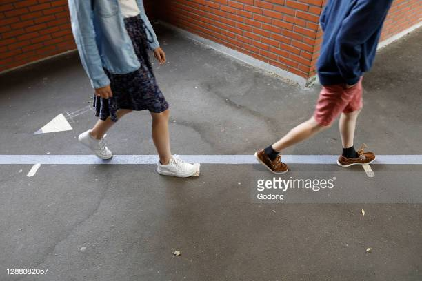 Primary school in Montrouge after lockdown. France.