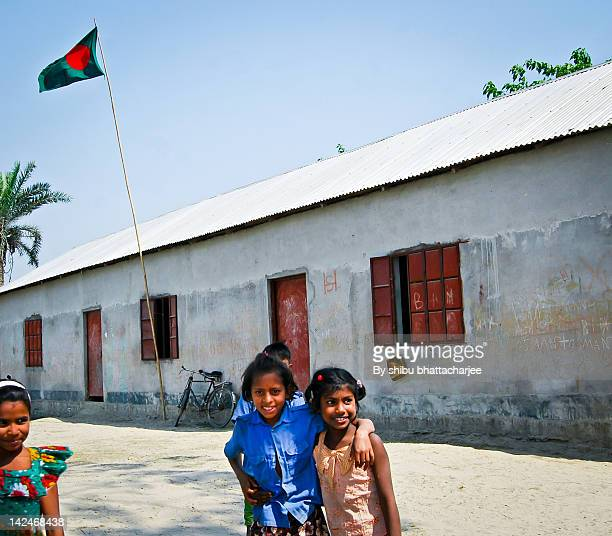 primary school in this spring noon - bangladesh village stock photos and pictures
