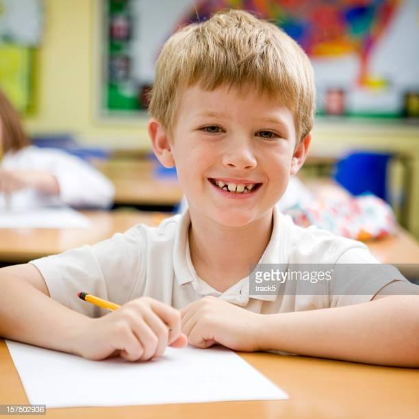 primary school: smiling student