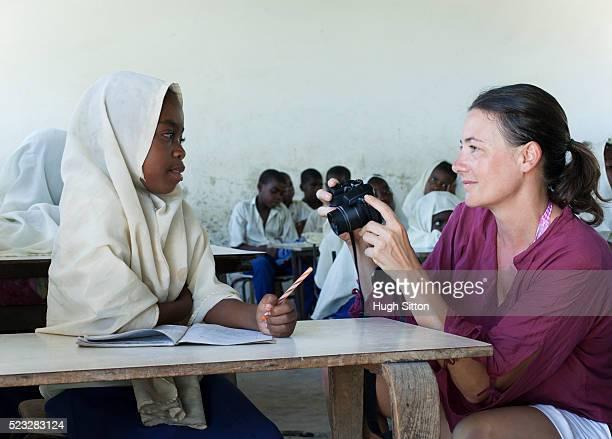 primary school. tanzania. africa - hugh sitton stockfoto's en -beelden