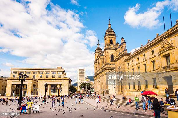 primatial cathedral of bogota - colombia stock pictures, royalty-free photos & images
