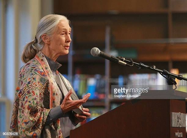 Primatologist Dr Jane Goodall visits Barnes Noble Union Square on September 3 2009 in New York City