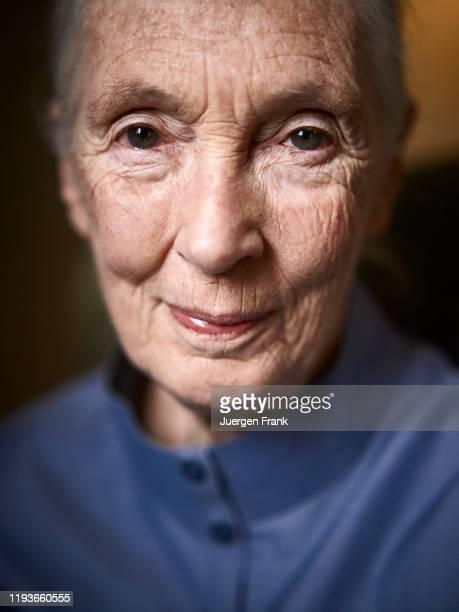 Primatologist Jane Goodall is photographed for Der Spiegel Magazine on September 20, 2015 in New York City.