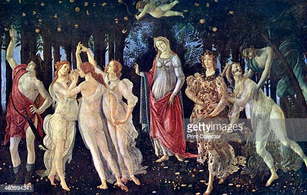 'Primavera' c1478 A print after the painting in the Uffizi Gallery Florence from Art History and Literature Illustrations by Jessie Noakes Virtue and...