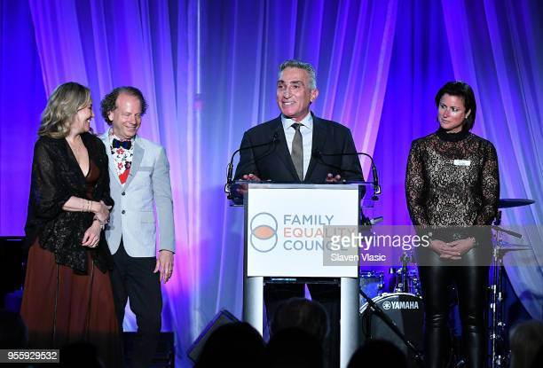 Primavera Salva Bruce Cohen Luigi Caiola and Sam Lippitt attend Family Equality Council's Night At The Pier at Pier 60 on May 7 2018 in New York City