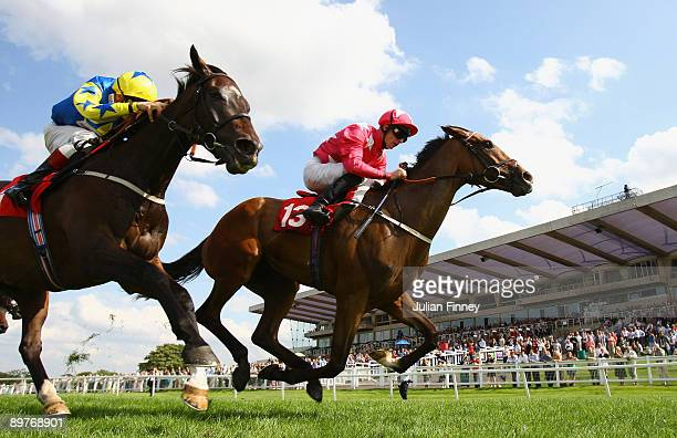 Prime Exhibit ridden by Steve Drowne beats Guilded Warrior ridden by LouisPhilippe Beuzelin to land The Watch Racing UK on Sky Channel 432 Handicap...