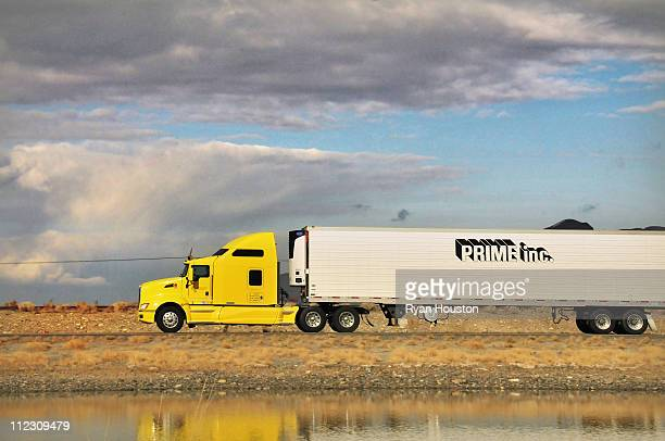 Prime Inc. Semi-Truck on I-80 West of Salt Lake City