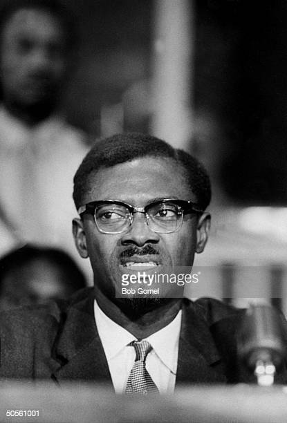 Prime Min of the Congo Patrice Lumumba at a UN Security Council discussion about the RB47 incident