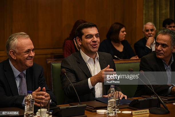 Prime Minister Alexis Tsipras at the kick up meeting of the new cabinet in Athens on November 6 2016