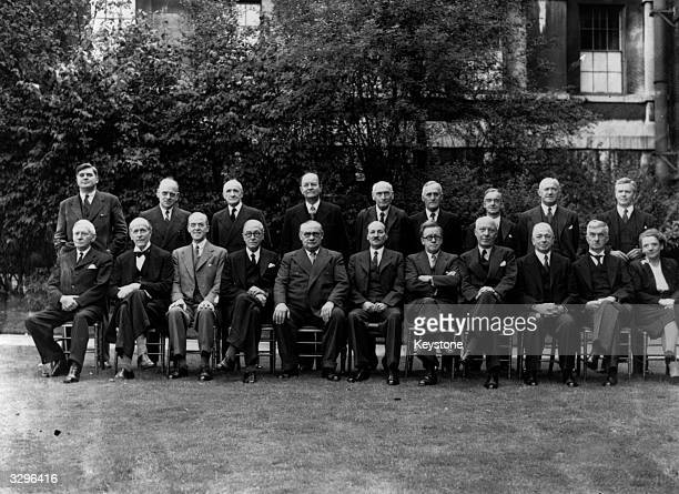 The newlyappointed Labour Cabinet Front row from left Christopher Addison 1st Viscount Addison Lord Jowitt Sir Richard Stafford Cripps Arthur...