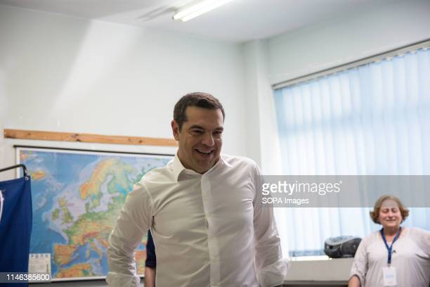 Prime Minister and President of Syriza Alexis Tsipras seen during the Regional Government Municipality and European Parliament elections