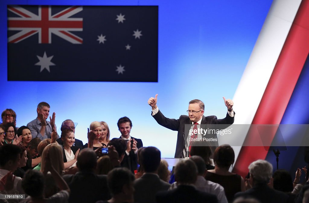 Prime Minister Anthony Albanese speaks during the Labor party campaign launch at the Brisbane Convention and Exhibition Centre on September 1, 2013 in Brisbane, Australia. The incumbent centre-left Australian Labor Party has trailed the conservative Liberal-National Party coalition for the first four weeks of the campaign, and most pollsters give them little hope of retaining government. Australians head to the polls this Saturday, September 7.