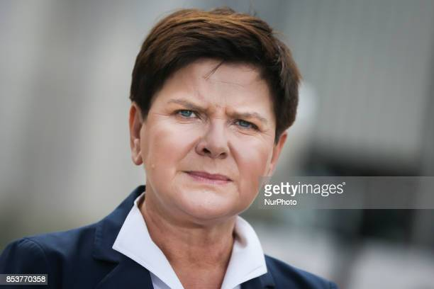 Prime Minister Beata Szydlo during the opening ceremony of Polyamide Plant II in Tarnow Poland on 25 September 2017 Tarnow Polyamide Plant II is the...