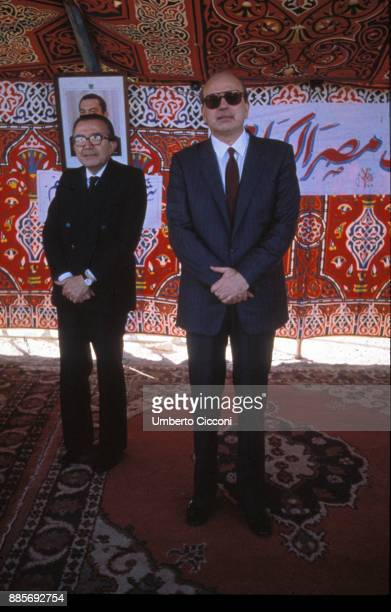 Prime Minister Bettino Craxi is with Foreign Minister Giulio Andreotti in Egypt for an official visit 1986