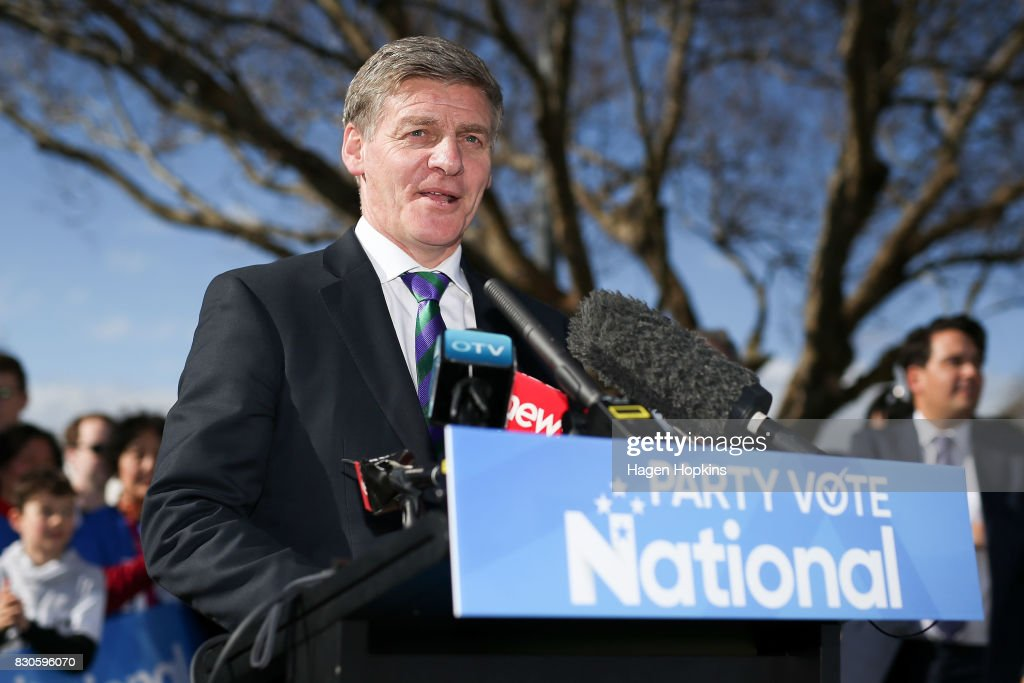 Bill English Campaigns In Wellington As Labour Closes In On Polls