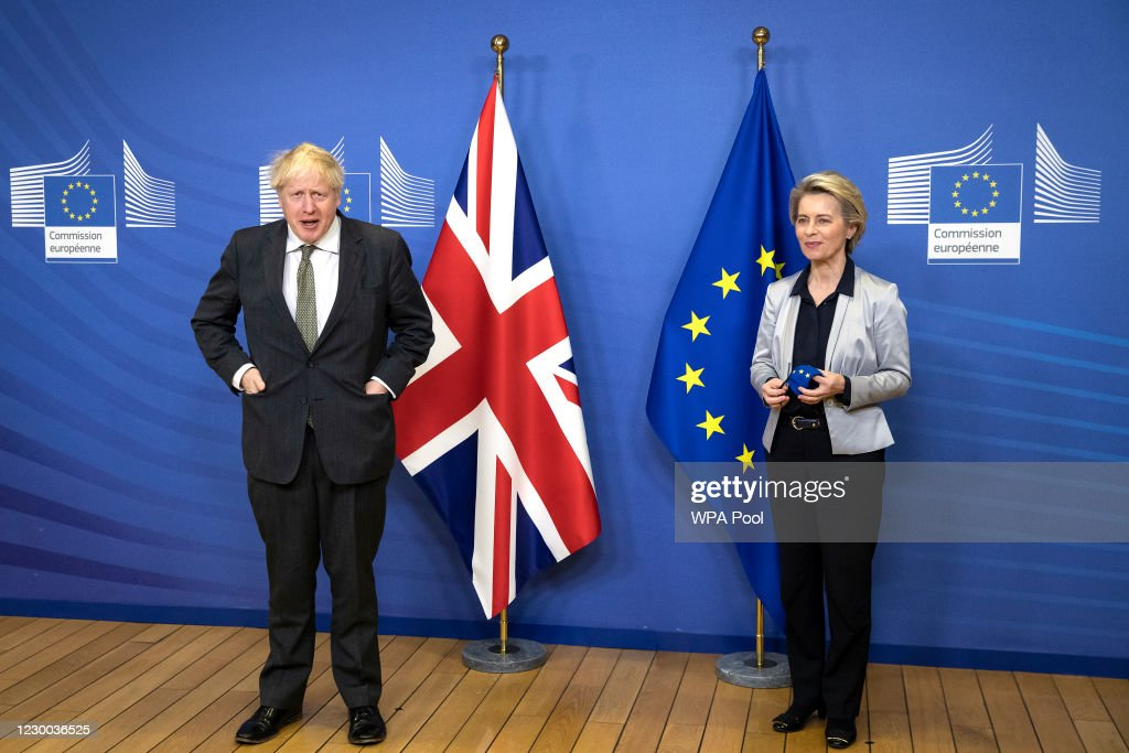 British PM Visits Brussels Ahead Of Brexit Deal Deadline : News Photo