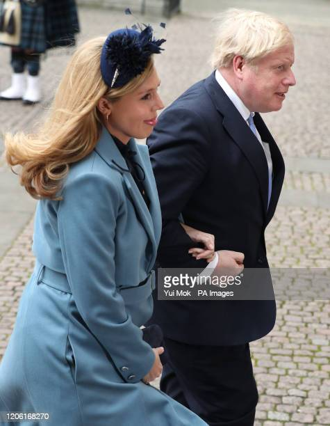 Prime Minister Boris Johnson and partner Carrie Symonds arrive at the Commonwealth Service at Westminster Abbey, London on Commonwealth Day. The...