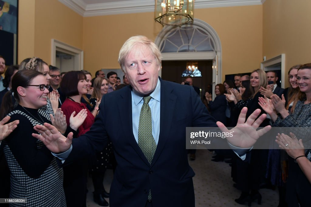 The Conservative Party Win A Clear Majority In The UK General Election : ニュース写真