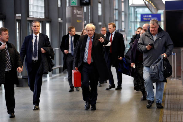 GBR: Boris Johnson Campaigns In The South East Of England